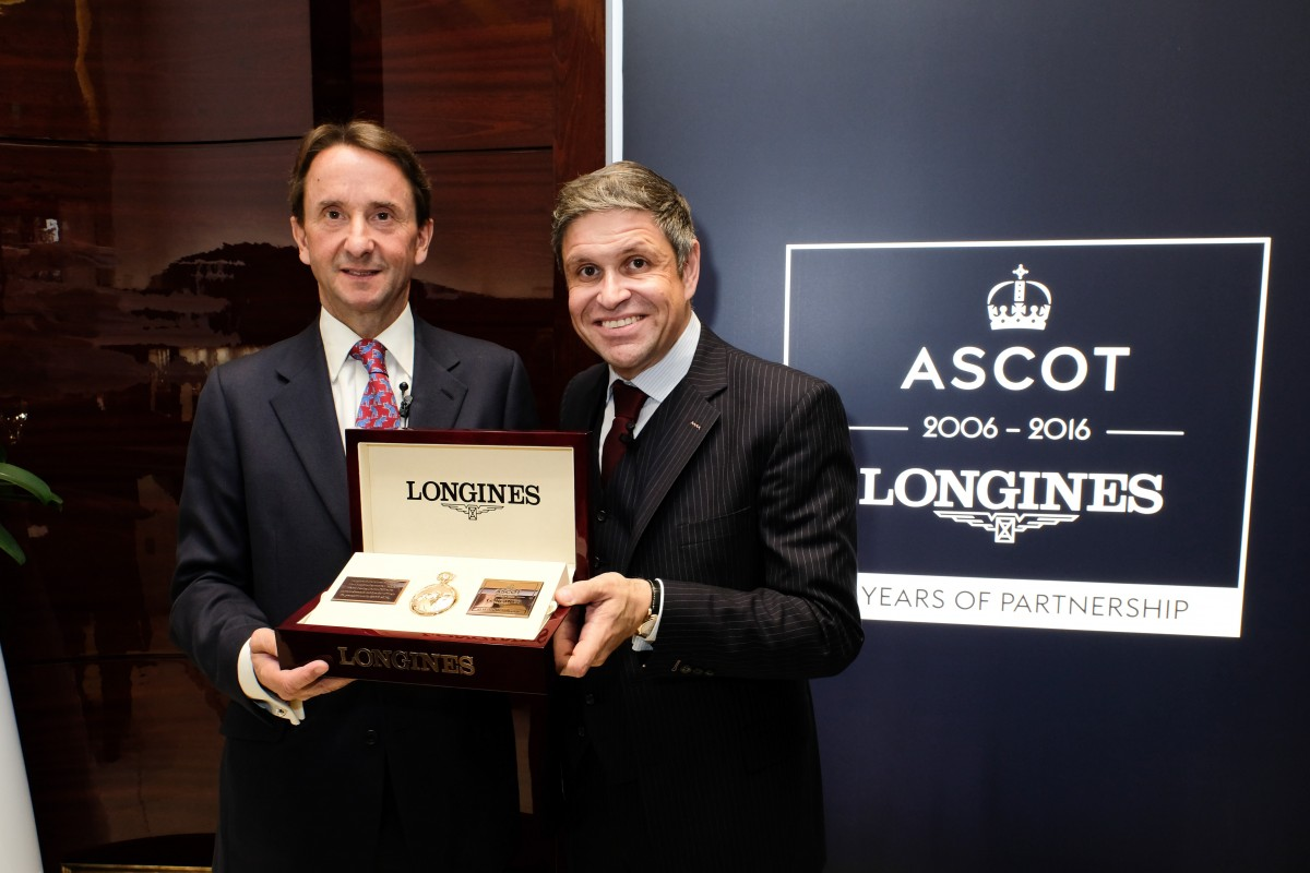 johnny-wetherby-chairman-of-ascot-racecourse-with-juan-carlos-capelli-vice-president-of-marketing-longines-photo-by-matt-keeble
