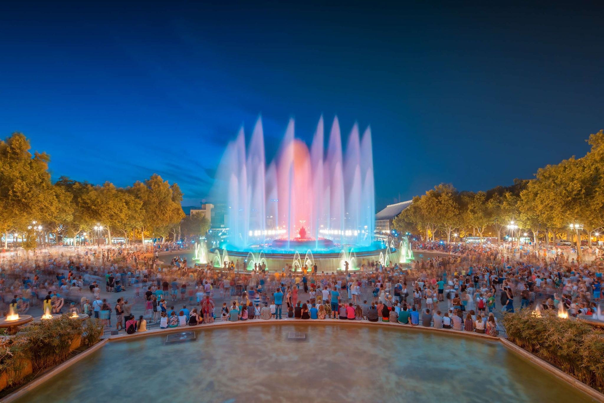 Magic Fountains of Mountjuic, Barcelona