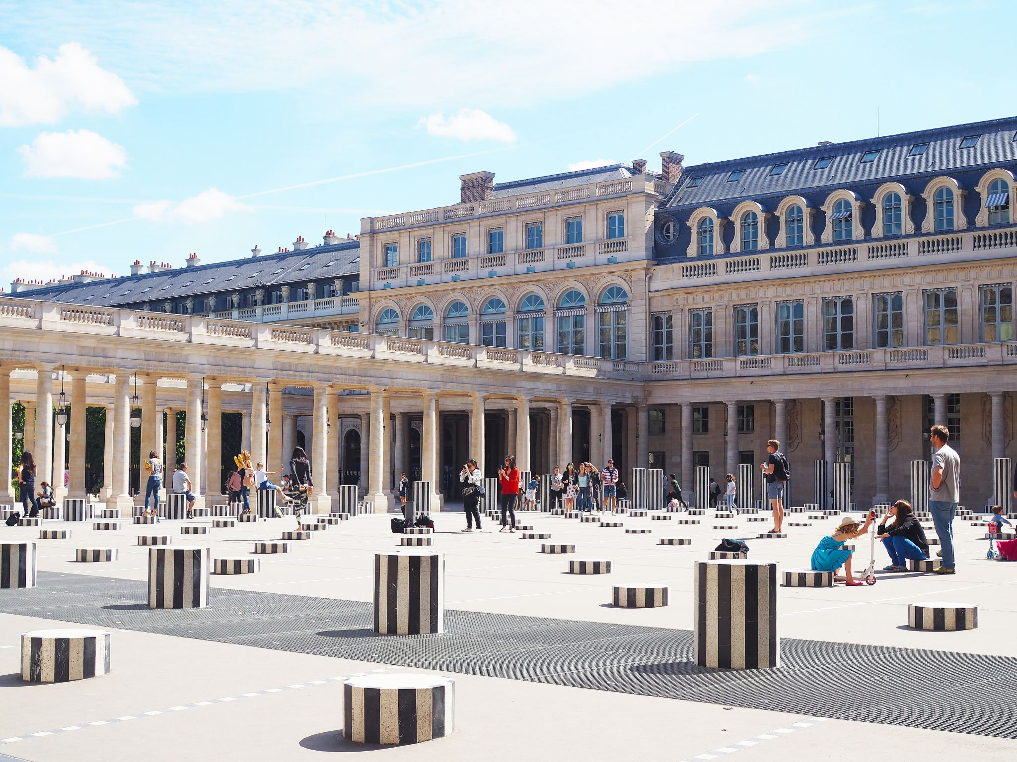 Daniel Buren's striped column artwork, Paris