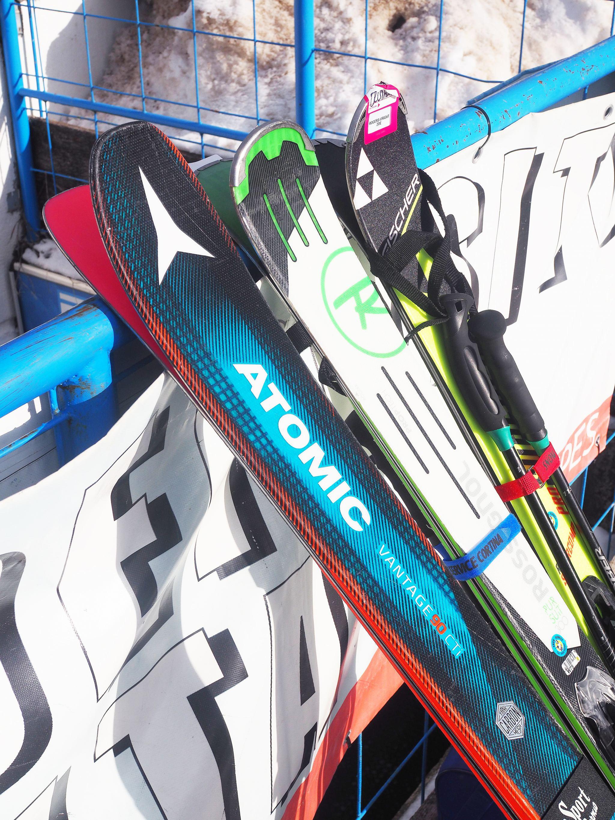 Skiing on Italian Dolomites