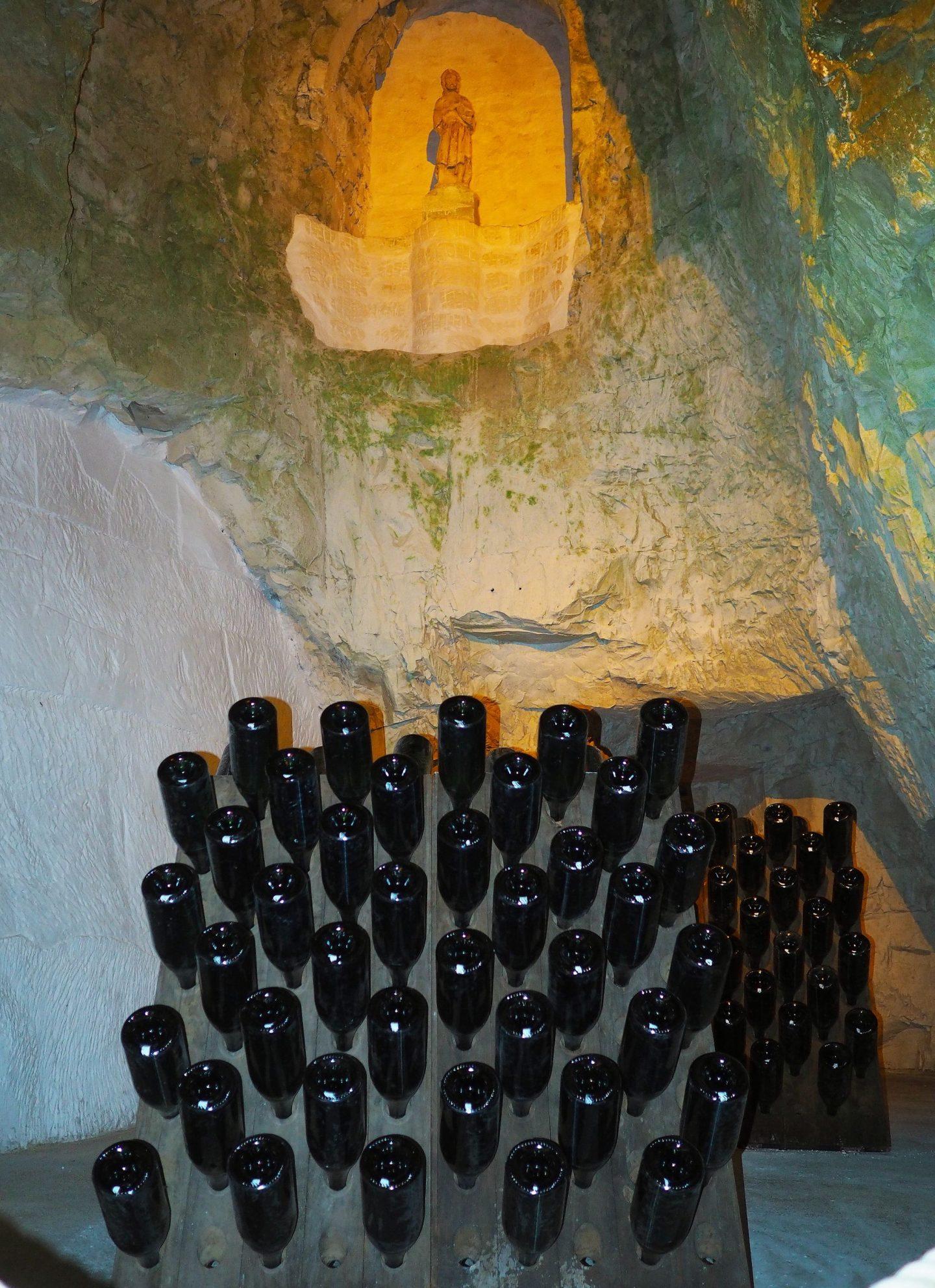 Champagne Taittinger Cellar