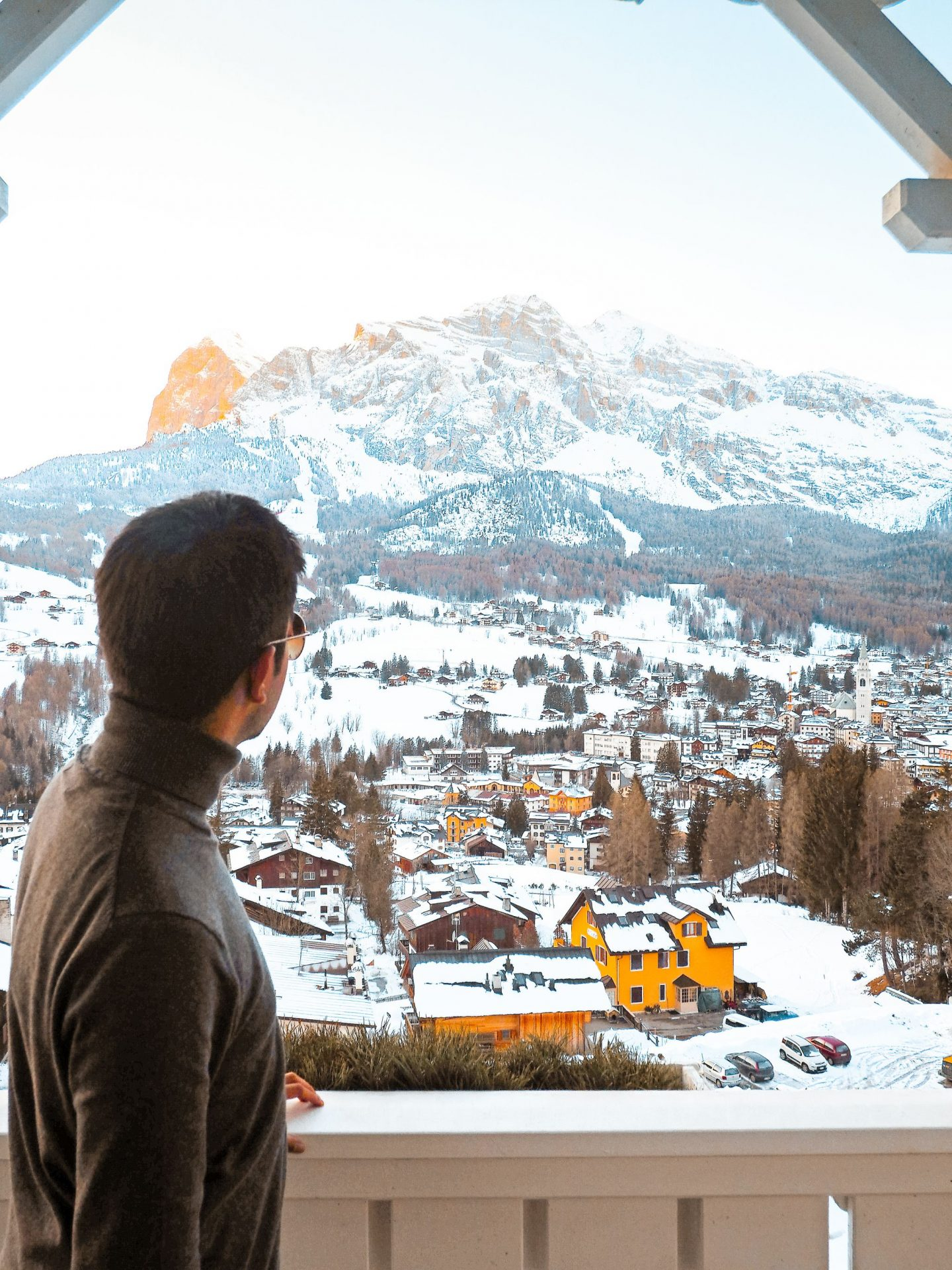 The 2019 Edit: Progress - Aftab overlooking mountains of Cortina.