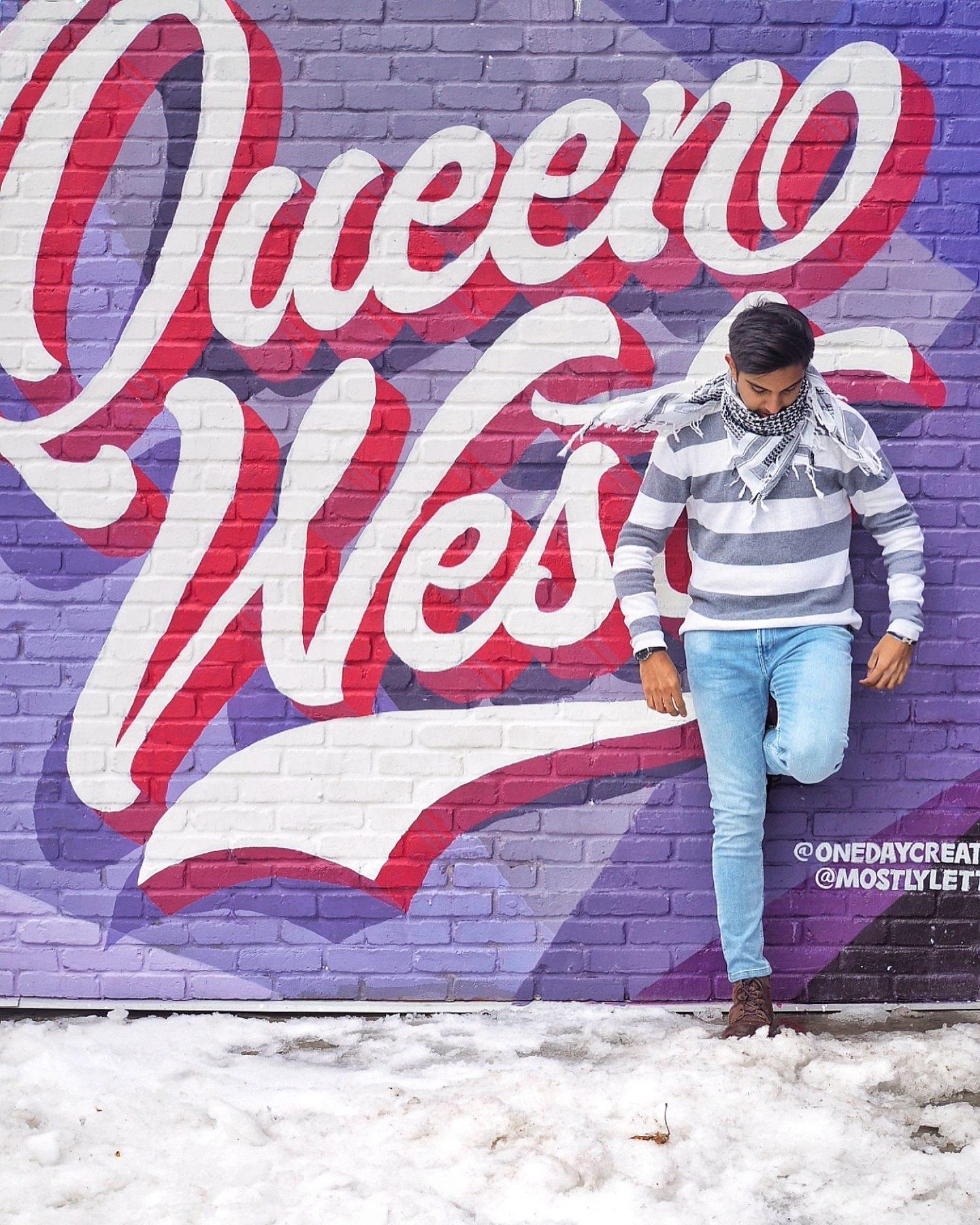 Street art in queens, Toronto