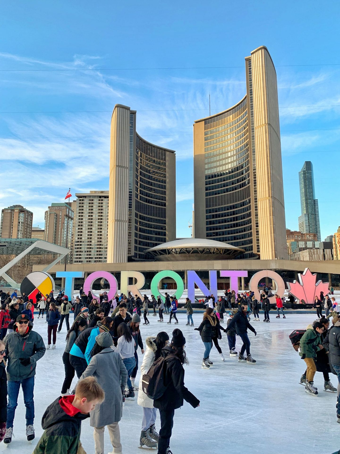 Toronto winter ice skating
