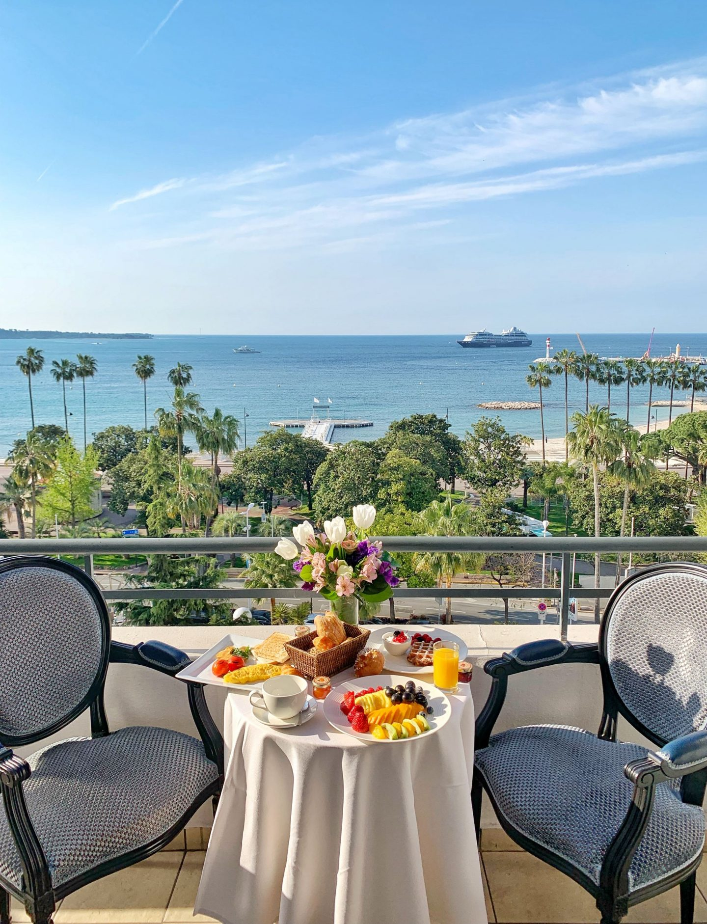 Le Majestic Cannes Breakfast