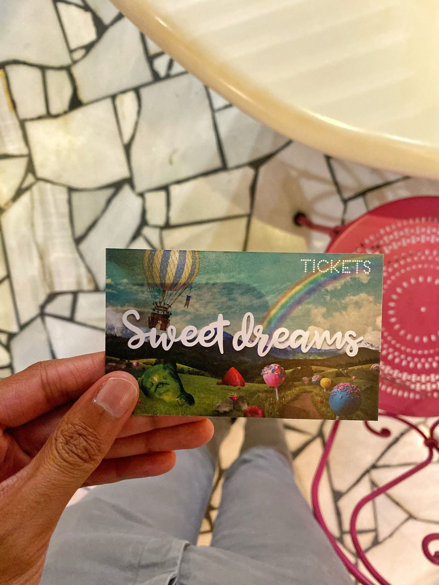 Dessert ticket