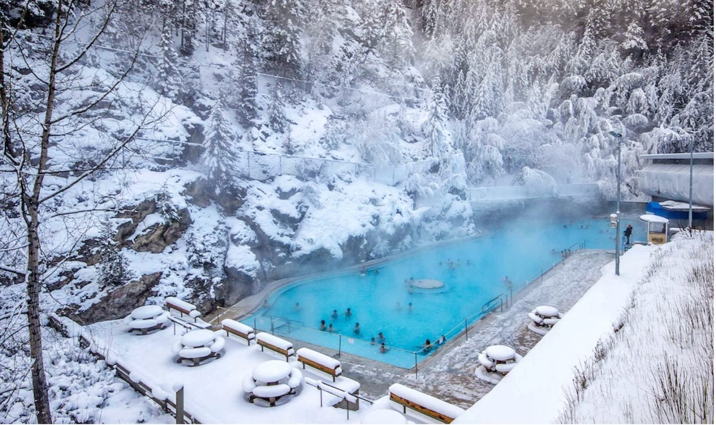 Canadian Hot Springs - off season in Canada