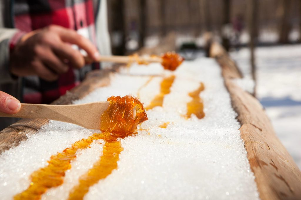 Maple Taffy experience - off season in Canada