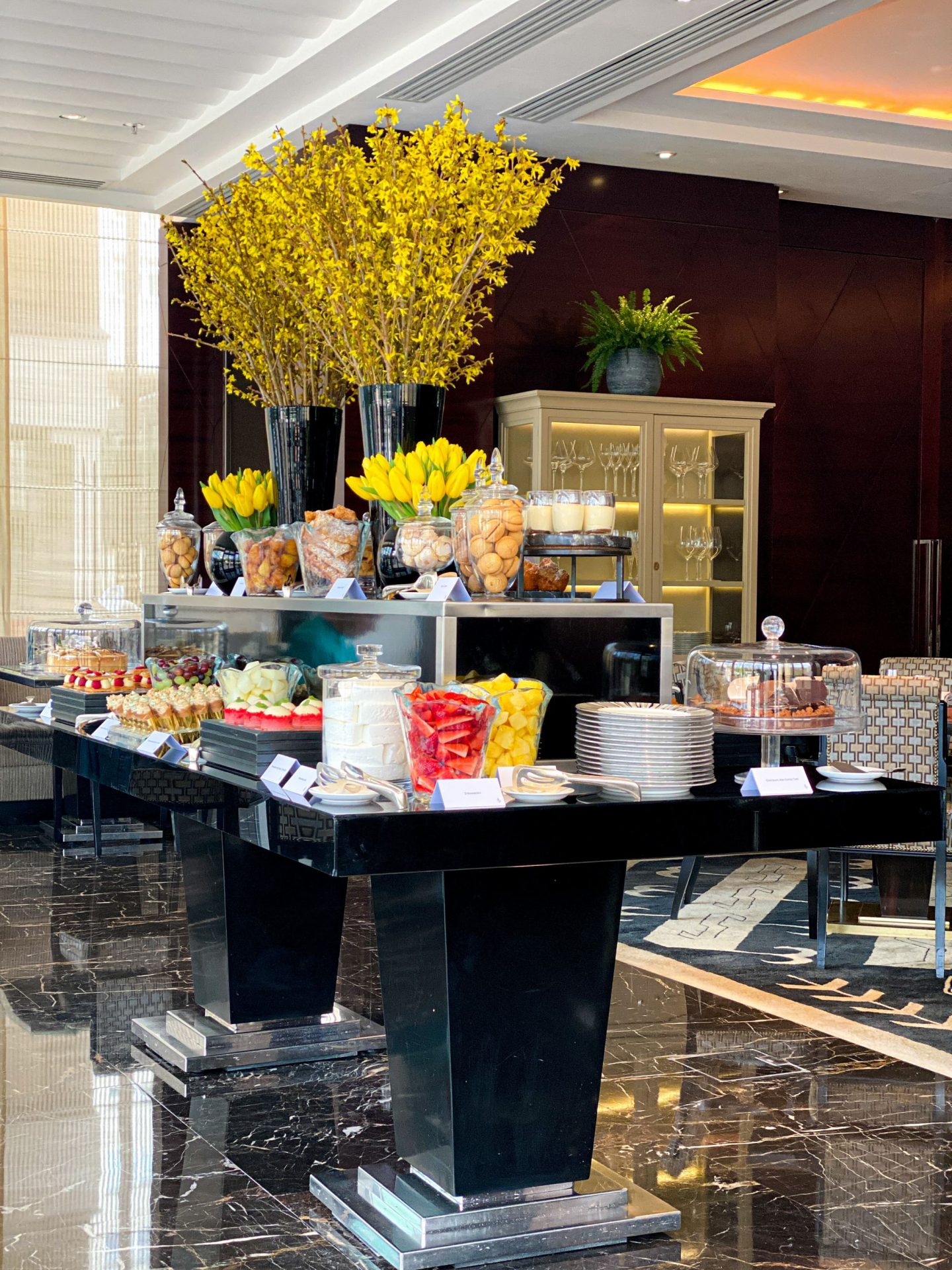 Brunch dessert table - Four Seasons Park Lane